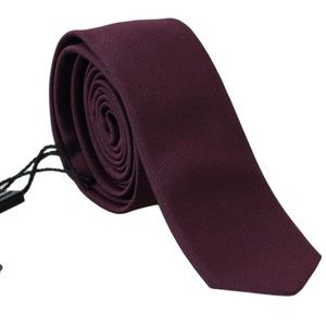 Dolce&Gabbana D169 Purple Silk Fashion Slim Tie